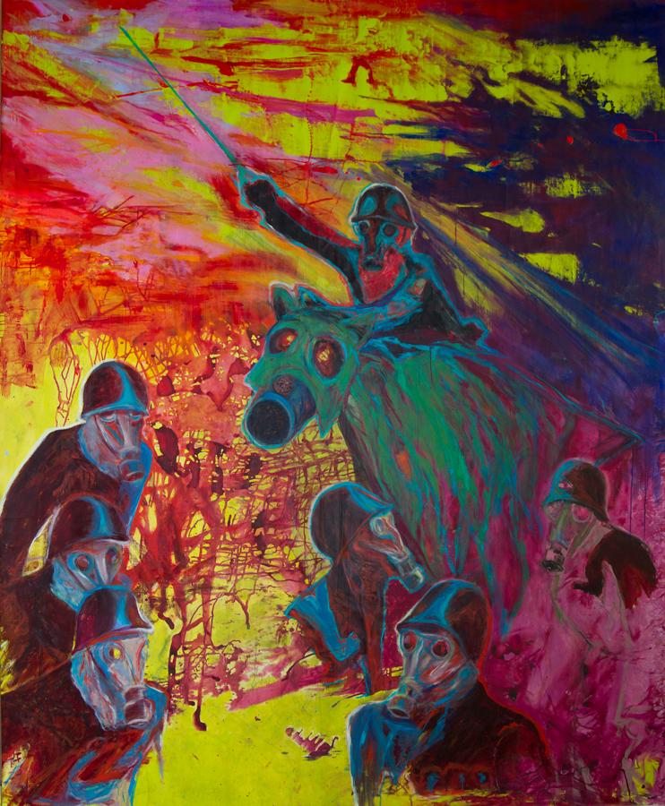 DE MUYNCK_ Ach Ja. Acryl auf Leinwand, 260 c 220 cm, 2014. Foto Harry Wolfsbauer