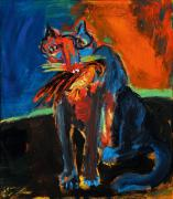 Innocent Cat. Acrylic on canvas, 80 x 70 cm, 1996