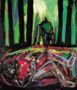 Requiem. Acrylic/oil on canvas, 200 x 180 cm, 1998