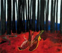 Im Wald. Acryl auf Leinwand, 180 x 200 cm, 2011
