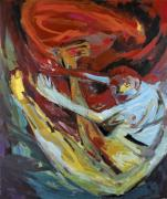 Swirling One. Acrylic on canvas, 180 x 160 cm, 1994