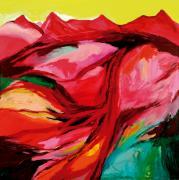 Utopische Landschaft. Acryl auf Leinwand, 200 x 200 cm, 2004