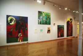 UNTER DIE HAUT. Städtische Galerie Überlingen, 1.Raum, Ansicht 4, 2014