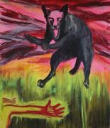 Hondsdolle Hond.  Mad Dog. 9.11.2016. Acryl auf Leinwand, 140 x 120 cm