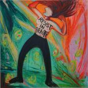 Resist in Beauty. 2018. Acryl auf Leinwand, 180 x 160 cm.  Synästhetisches Bild mit Les Fêtes d'Hébé von Jean Philippe Rameau