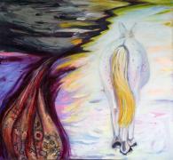 ideals paternalistes rompus; homme et animal; cheval blanc