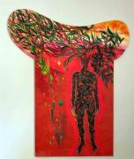 Metamorph. Januar/Februar 2020. Acryl auf Leinwand, 240 x 170 cm - mit Extensions