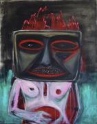 Neulich Pfingsten, 2015. Acryl-Öl op doek, 120 x 90 cm