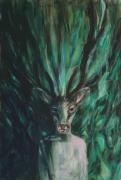 Selfie-Deer, 2017, Acryl op doek, 120 x 80 cm