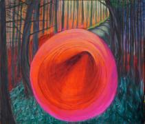 Waldtönen. 1-2019. Acryl op doek, 170 x200