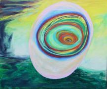 Wiggerls Traum (Le Reve de Wiggerl), 2018, Acryl sur toile, 160 x180 cm