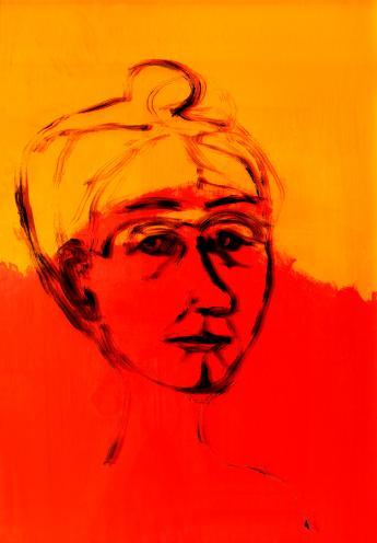 Gebriele Münter - Hinterglas_Portrait